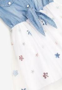 Born2be - Biała Sukienka Olithenis. Kolor: biały