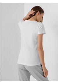 outhorn - T-shirt gładki damski. Okazja: na co dzień. Materiał: bawełna, jersey, materiał, elastan. Wzór: gładki. Styl: casual