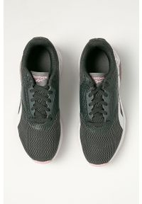 Szare buty sportowe Reebok na sznurówki, z cholewką