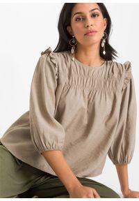 Beżowa bluzka bonprix