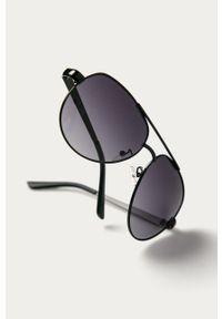 Czarne okulary przeciwsłoneczne Guess gładkie