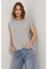 Szara bluzka Vero Moda na co dzień, casualowa