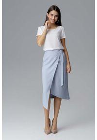 Niebieska spódnica asymetryczna Figl