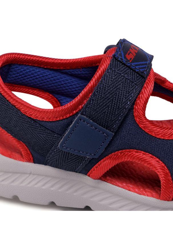 Niebieskie sandały skechers