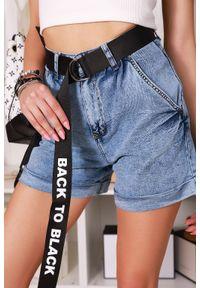 Niebieskie spodnie IVET krótkie, na lato