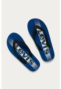 Niebieskie klapki Levi's® na spotkanie biznesowe, w kolorowe wzory