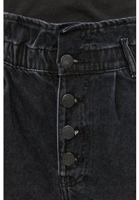 only - Only - Szorty jeansowe. Okazja: na co dzień. Kolor: szary. Materiał: jeans. Wzór: gładki. Styl: casual