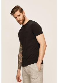 Czarny t-shirt Brave Soul casualowy, na co dzień, gładki