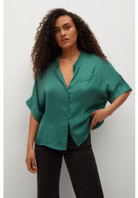 mango - Mango - Koszula Jun. Kolor: zielony. Długość rękawa: krótki rękaw. Długość: krótkie
