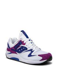 Saucony - Sneakersy SAUCONY - Grid 9000 S70439-2 Wht/Pur. Kolor: biały, fioletowy, wielokolorowy. Materiał: skóra, materiał, zamsz
