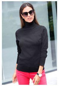Sweter z golfem bonprix czarny. Typ kołnierza: golf. Kolor: czarny