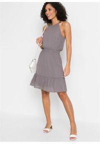 Szara sukienka bonprix elegancka
