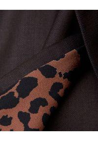 ICON - Dwurzędowy trencz z wełny Enola. Kolor: brązowy. Materiał: wełna. Sezon: jesień