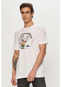 Biały t-shirt Quiksilver na co dzień, casualowy