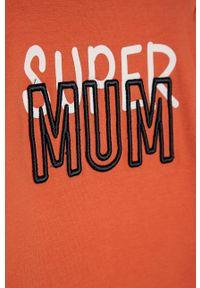 Koszulka z długim rękawem Name it z nadrukiem, casualowa, na co dzień
