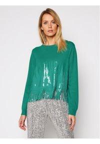 Zielony sweter klasyczny Pinko
