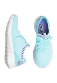 Niebieskie buty do fitnessu skechers z cholewką