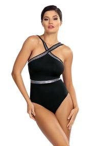 Czarny strój kąpielowy Lorin z aplikacjami
