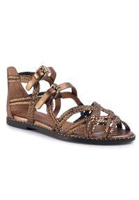 Złote sandały See By Chloé na co dzień, vintage