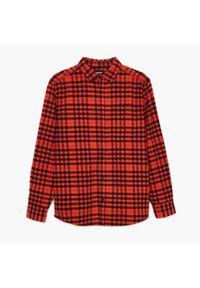 Cropp - Koszula w kratę - Pomarańczowy. Kolor: pomarańczowy