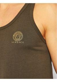 VERSACE - Versace Tank top Medusa AUU01012 Zielony Regular Fit. Kolor: zielony