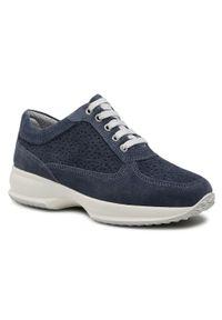 Niebieskie sneakersy Imac z cholewką, na co dzień