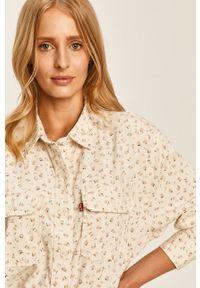 Biała koszula Levi's® biznesowa, na co dzień, z klasycznym kołnierzykiem