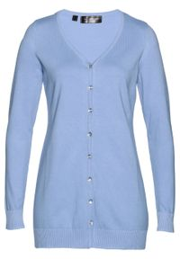 Niebieski sweter bonprix elegancki, długi