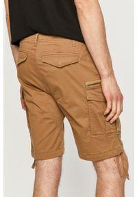PRODUKT by Jack & Jones - Produkt by Jack & Jones - Szorty. Okazja: na co dzień. Kolor: brązowy. Materiał: tkanina. Wzór: gładki. Styl: casual