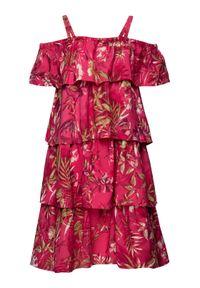 Różowa sukienka Primigi na co dzień, casualowa, prosta