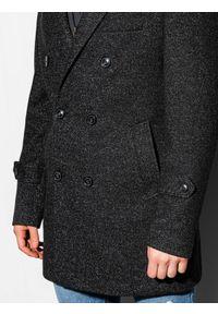 Czarny płaszcz Ombre Clothing elegancki, na wiosnę