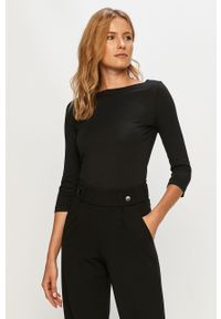 Czarna bluzka z długim rękawem Vero Moda casualowa, na co dzień