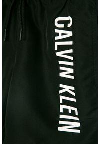 Czarne spodenki Calvin Klein na co dzień, casualowe, z nadrukiem