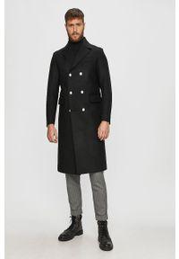 Czarny płaszcz Diesel klasyczny, bez kaptura