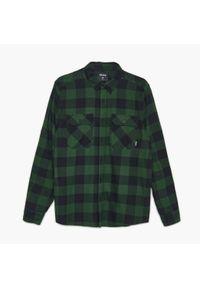 Cropp - Koszula w kratę - Khaki. Kolor: brązowy
