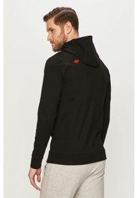 Czarna bluza nierozpinana 4f z nadrukiem, casualowa, na co dzień
