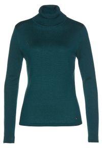 Sweter z golfem, z kaszmirem bonprix głęboki zielony. Typ kołnierza: golf. Kolor: zielony. Materiał: kaszmir. Styl: elegancki