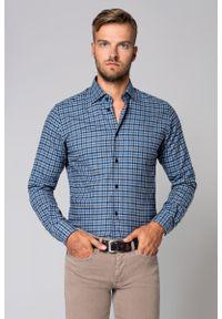 Niebieska koszula casual Lancerto na jesień