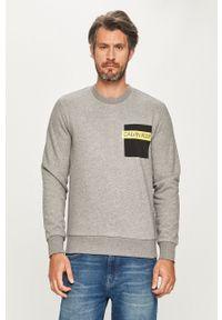 Szara bluza nierozpinana Calvin Klein bez kaptura, na co dzień