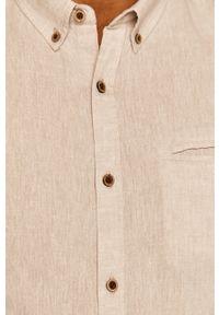 Beżowa koszula medicine casualowa, button down, długa, na co dzień