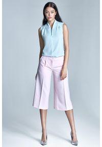 Różowe spodnie Nife eleganckie