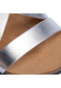 Srebrne sandały Dr. Brinkmann