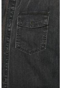Czarna koszula Cross Jeans klasyczna, na co dzień, długa