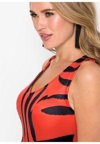 Sukienka w tygrysie cętki bonprix pomarańczowo-czarny. Kolor: pomarańczowy