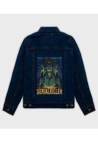 MegaKoszulki - Kurtka jeansowa damska Serial killer. Materiał: jeans. Wzór: nadruk. Sezon: wiosna. Styl: klasyczny