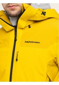 Żółta kurtka sportowa Peak Performance narciarska