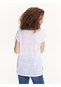 Biała bluzka TROLL z krótkim rękawem, z nadrukiem #6