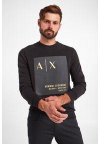 Armani Exchange - BLUZA ARMANI EXCHANGE. Długość rękawa: długi rękaw. Długość: długie. Wzór: aplikacja, nadruk