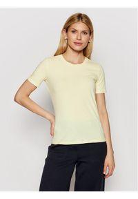 Żółty t-shirt Max Mara Leisure