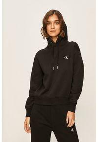 Calvin Klein Jeans - Bluza. Kolor: czarny. Materiał: dzianina. Wzór: gładki